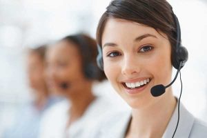 woman customer service rep
