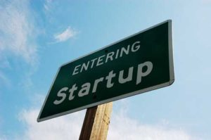 start up road sign photo