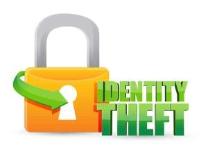 padlock identity theft graphic
