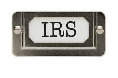 photo IRS tag on drawer