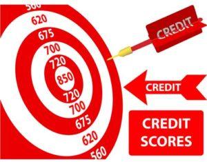 credit score bullseye