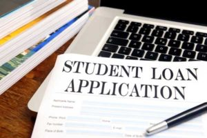 photo of student loan application
