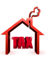 home & tax illustration
