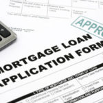 photo of mortgage loan application