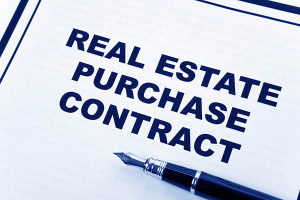 photo of real estate contract