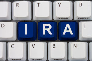 photo of word IRA in keyboard