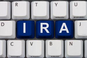 photo of word IRA in keyboard