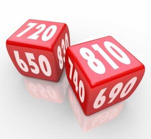 dice with credit scores