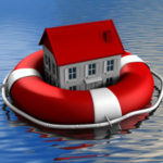 photo house floating in life preserver