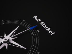 Conceptual 3D render image with a frameless Compass focus on a single word