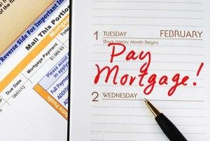 calendar with words pay mortgage