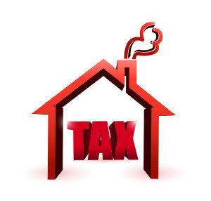 home & tax illustration