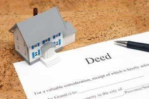 model house and real estate deed