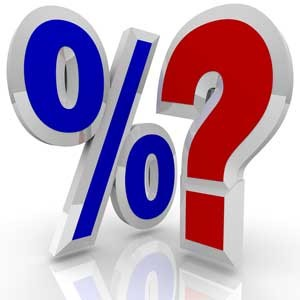 percentage sign & question mark