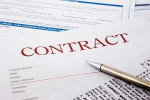 photo of contract form