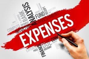 EXPENSES word cloud business concept presentation background