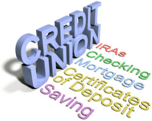 Credit union financial services list checking saving IRA CDs